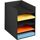 PAPERFLOW Formularbox DIN A4, Polystyrol, für Aktenordner, 5 Fächer, schwarz