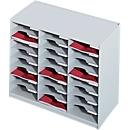 PAPERFLOW sorteerstation, A4, polystyreen, 24 vakken, lichtgrijs