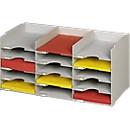 PAPERFLOW sorteerstation, A4, polystyreen, grijs