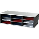 PAPERFLOW sorteerstation, A4, staal/polystyreen, 9 vakken