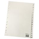 Papieren indexbladen A4, per stuk, A4 A-Z, lichtchamoisgeel