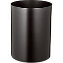 Papierkorb aus Stahl, feuerfest, schwarz, 13 l, ohne Löschdeckel