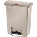Pedaalemmer Slim Jim®, Kunststof, volume 30 liter, beige