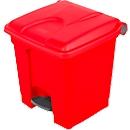 Pedaalemmer van polyetheen 30 l, rood
