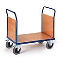 Plateauwagen met 2 wanden, 1000 x 600 mm