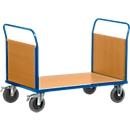 Plateauwagen met 2 wanden, 1000x700 mm