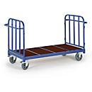 Plateauwagen met 2 wanden, 2000 x 880 mm, draagvermogen 1.200 kg