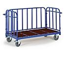 Plateauwagen met 3 wanden, 1300 x 840 mm, draagvermogen 1.200 kg