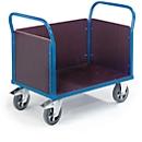 Plateauwagen met 3 wanden, 1600 x 780 mm, draagvermogen 1.200 kg