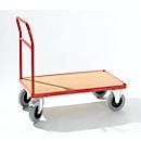 Plateauwagen met duwbeugel, 900 x 500 mm