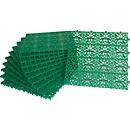 Platen Yoga Rooster, groen, 11 stuks