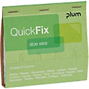 Pleisterstrips QuickFix aluminium, navulpak voor dispensers, hydraterend, 6 x 45 st.