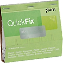 Pleisterstrips QuickFix aluminium, navulpak voor dispensers, m. anti-kleeflaag, 6 x 45 st.