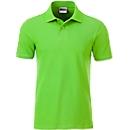 Poloshirt Herren Men's Basic, Biobaumwolle, 4-Knopfleiste, Werbedruck, limegreen, Gr. L
