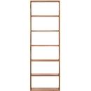 Pombal wandboekenkast, 6 OH, B 740 x D 340 x H 2240 mm, uitbreidbaar, notenboom