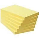 POST-IT Haftnotizen, recycling Papier, 127 mm x 76 mm, 6 x 100 Blatt, gelb