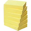 POST-IT Haftnotizen, recycling Papier, 51 mm  x 38 mm, 6 x 100 Blatt, gelb