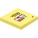POST-IT Haftnotizen Super sticky, 76 mm x 76 mm, 90 Blatt, 1 Block, kanariengelb