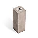 Powerbank Q-Pack Major Square 2.600 mAh Lithium-Polymer Akku, in Echtbeton Grau