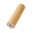 Powerbank Q-Pack Timber Kiefer 2.600 mAh Lithium Polymer Akku, aus Kiefernholz