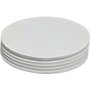 Presentatiekaartjes, ovaal, 110 x 190 mm, 250 st., wit
