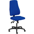 Prosedia Bürostuhl YOUNICO PLUS 8, Synchronmechanik, ohne Armlehnen, hohe 3D-Rückenlehne, blau