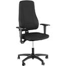 Prosedia bureaustoel YOUNICO PLUS 3, permanent contact, zonder armleuningen, hoge 3D-rugleuning, blauw