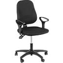 Prosedia bureaustoel YOUNICO PLUS 3, permanent contact, zonder armleuningen, lage 3D-rugleuning, blauw