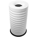 Prullenbak Lumes, volume 52 liter, gegalvaniseerde binnenemmer, wit