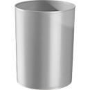 Prullenbak rondofix, 18 liter, Ø 270 x H 336 mm, RAL 7035 lichtgrijs