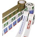 PVC-Klebeband, 2-farbiger Druck, weiß, 72 Rollen