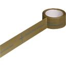 Pvc-tape, 1-kleurige opdruk, bruin, 72 rollen