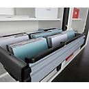 Railsysteem voor hangmappen, voor roldeurkast, voor 800 mm breedte