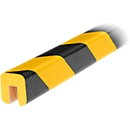 Randbeschermprofiel type G, 1 m/stuk, geel/zwart