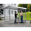 Raucherunterstand WSM Jena Maxi, Outdoor, für 4-5 Personen, B 2960 x T 1580 x H 2360 mm, verzinkt