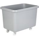 Rechteckbehälter, Kunststoff, fahrbar, 227 l, grau