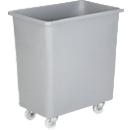 Rechthoekige container, kunststof, verrijdbaar, 135 l, grijs