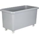 Rechthoekige container, kunststof, verrijdbaar, 450 l, grijs