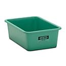 Rechthoekige container Standaard, GFK, 100 l, groen