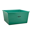 Rechthoekige container Standaard, GFK, 3300 l, groen