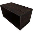 Regal SOLUS PLAY, 1 Ordnerhöhe, B 800 x T 420 x H 374 mm, Mooreiche