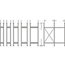 Regalsystem R 3000, Rahmen, H 2278 x T 300 mm