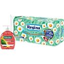 Regina Toilettenpapier 16 Rollen á 150 Blatt, 3-lagig + Palmolive Flüssigseife GRATIS