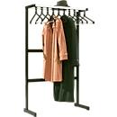 Reihengarderobenständer, 10 Kleiderbügel, Hutablage