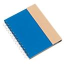 Ringbuch Magny, inkl. Schreibblock 70 Blatt liniert,  Haftnotizen & Kugelschreiber, blau