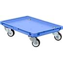 Roll-Fix, kunststof wielen, blauw, 600 x 400 x 125 mm