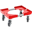 Roll-Fix, kunststof wielen, rood, 400 x 300 x 125 mm