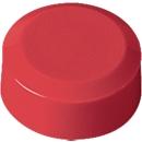 Ronde magneten MAUL, kunststof & metaal, fijne structuur, hechtkracht 170 g, Ø 15 x 7,5 mm, rood, 20 stuks