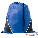 Rucksack-Beutel Westford, 210D-Polyester, mit Zugkordel, farblich abgesetzte Ecken, blau