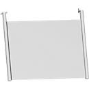 Rückseitenblende, für Schreibtisch B 800 mm, H 466 mm, weißaluminium
